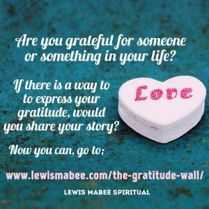 The Gratitude Wall