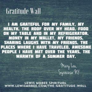 Mary Lou's Gratitude