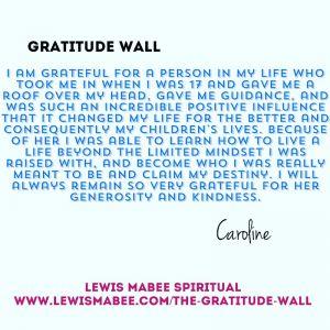 Caroline's Gratitude