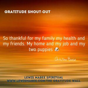 Christine's Gratitude