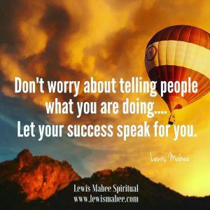 Success Speaks