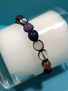 chakra bracelet with amethyst